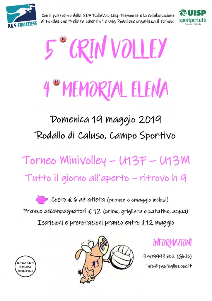 Volantino 5° Crin Volley - 4° Memorial Elena